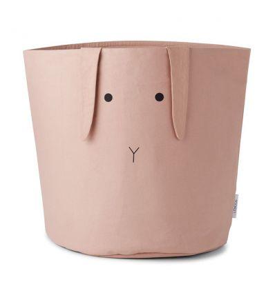 liewood - cesto portagiochi grande coniglio rosa