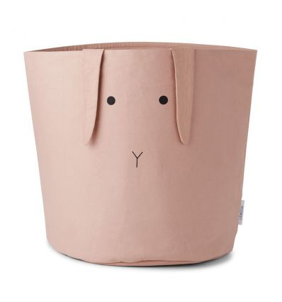 liewood - big fabric basket for storage rose rabbit