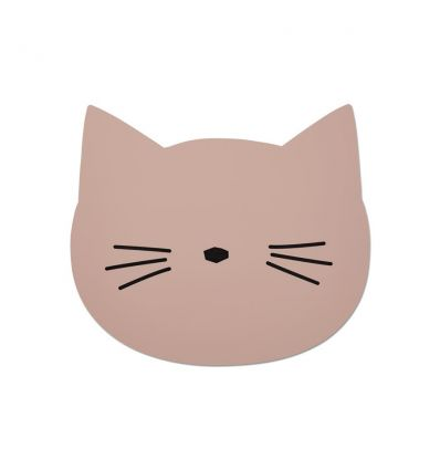 liewood - silicone placemat cat rose
