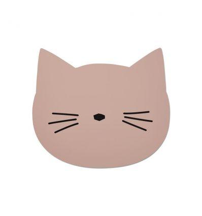 liewood - tovaglietta in silicone gatto rosa
