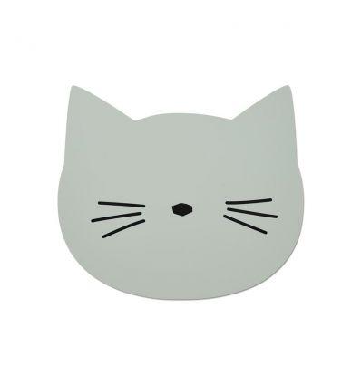 liewood - tovaglietta in silicone gatto verde