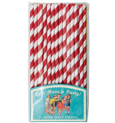 straws for party (red)