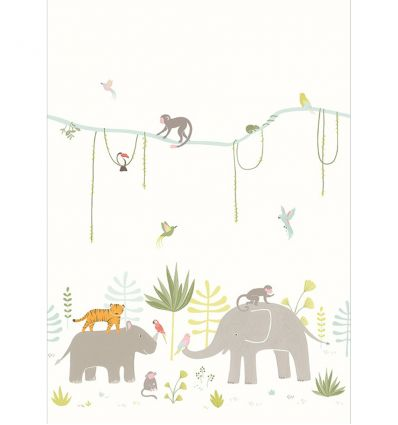 casadeco - wall mural with jungle animal