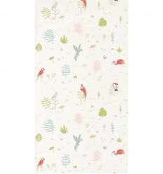 casadeco - wallpaper tropical corail