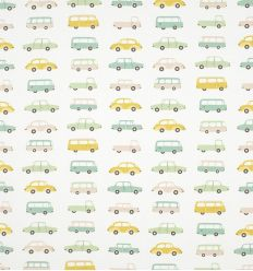 casadeco - fabric vintage cars (blue)