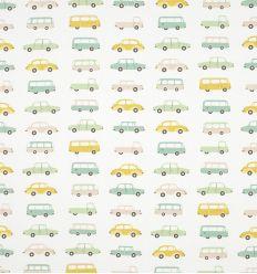 casadeco - fabric vintage cars (blue)