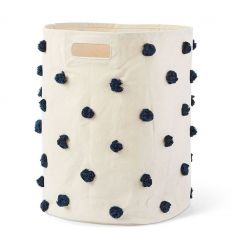 pehr - big canvas storage pom pom blue navy