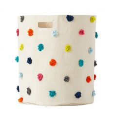 pehr - big canvas storage pom pom multicolor