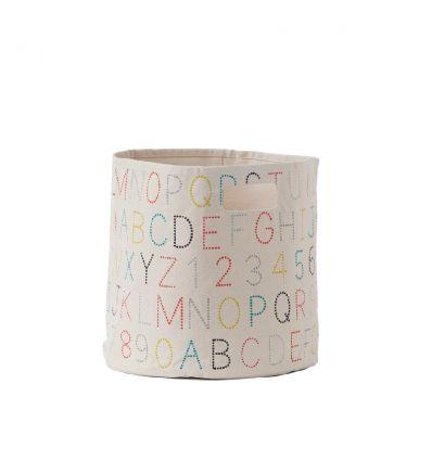 pehr - cesto medio con alfabeto multicolor