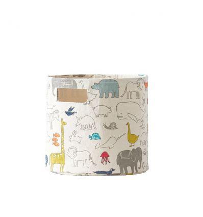 pehr - cesto medio con animali dell'arca di Noe