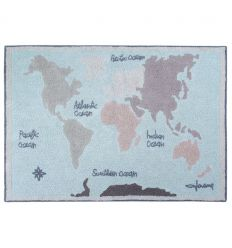 lorena canals - cotton rug vintage map