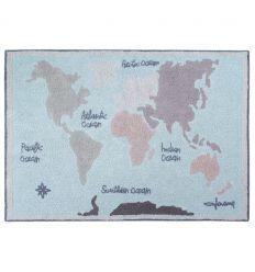 lorena canals - cotton rug vintage map