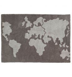 lorena canals - cotton rug world map
