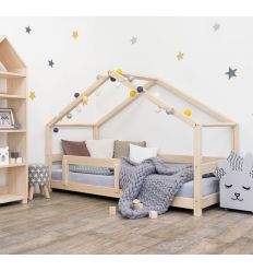 benlemi - letto casa montessori lucky (natural)