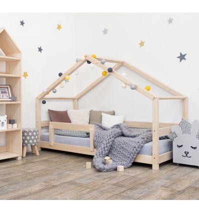 benlemi - letto casa montessori lucky (natural)