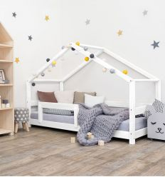 benlemi - montessori house bed lucky (white)