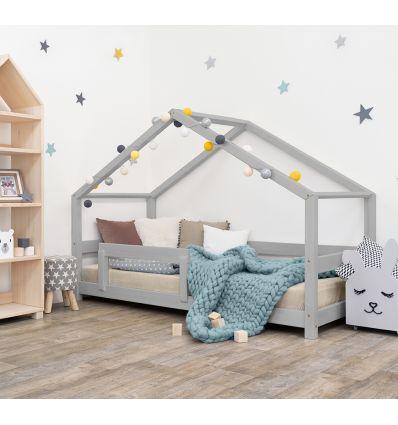 benlemi - montessori house bed lucky (grey)