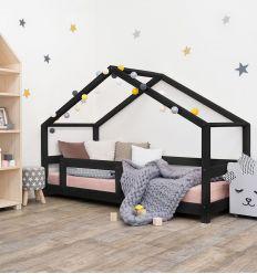 benlemi - letto casa montessori lucky (nero)