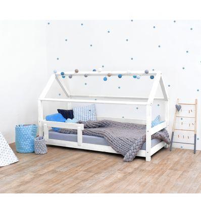 benlemi - letto casa montessori tery (bianco)