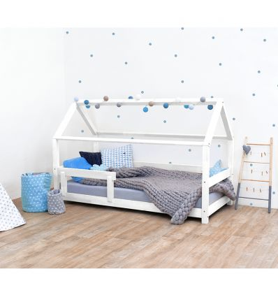 benlemi - montessori house bed tery (white)