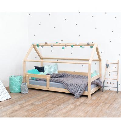 benlemi - letto casa montessori tery (naturale oliato)