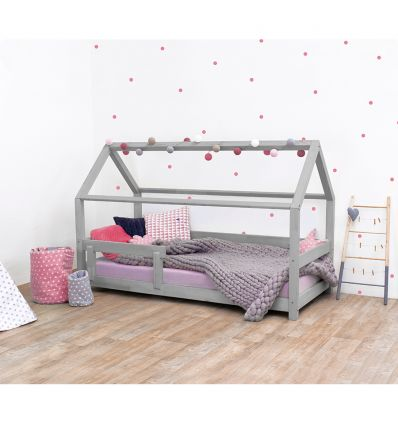 benlemi - montessori house bed tery (grey)