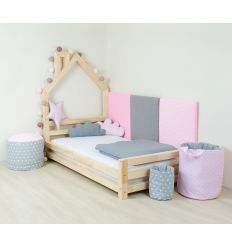 benlemi - montessori house bed wally (natural decor)