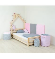 benlemi - montessori house bed wally (bleached natural wood)