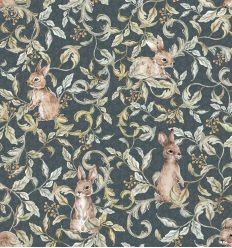 dekornik - wallpaper rabbits grove dark