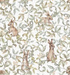 dekornik - wallpaper rabbits grove light