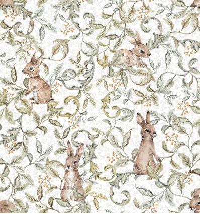 dekornik - carta da parati rabbits grove light