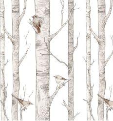 dekornik - wallpaper scandinavian birches