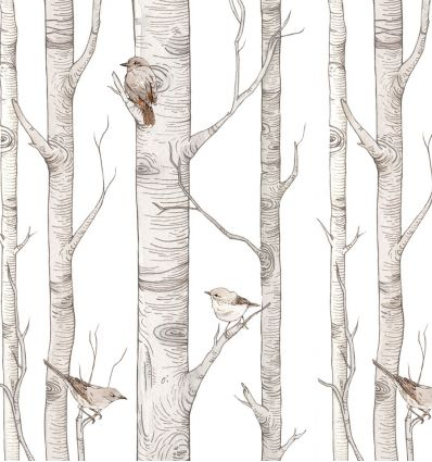 dekornik - wallpaper scandinavian birches
