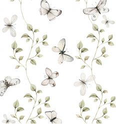 dekornik - wallpaper butterflies having fun