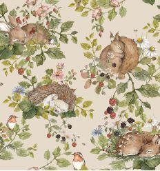 dekornik - wallpaper sleepy animals light