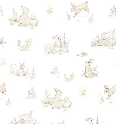 dekornik - carta da parati rabbit day classic