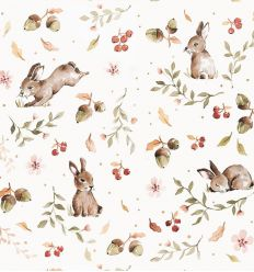 dekornik - wallpaper happy rabbits