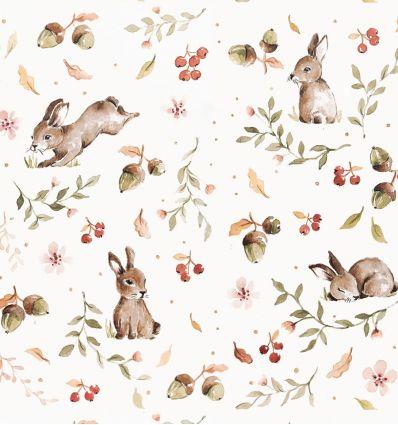 dekornik - carta da parati happy rabbits