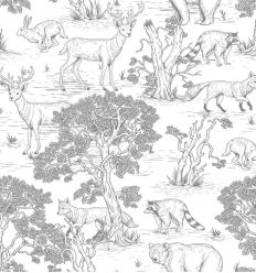 dekornik - wallpaper animals white