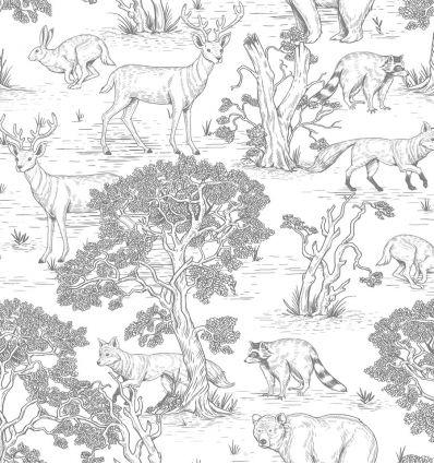 dekornik - wallpaper animals white