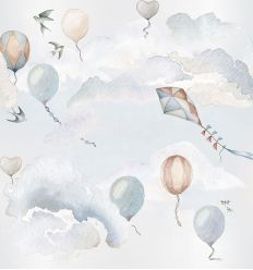 dekornik - wallpaper balloons fairytale