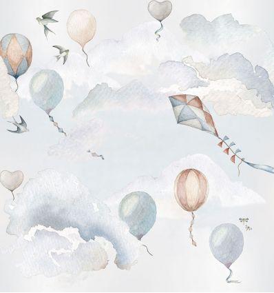 dekornik - wallpaper balloons fairytale