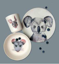 nuukk - bamboo dinner set koala & friends