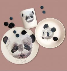 nuukk - bamboo dinner set panda
