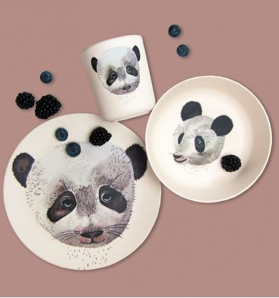 nuukk - bamboo dinner set panda