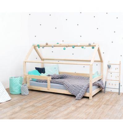 benlemi - letto casa montessori tery (naturale sbiancato)