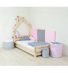 benlemi - letto casa montessori wally (naturale sbiancato)