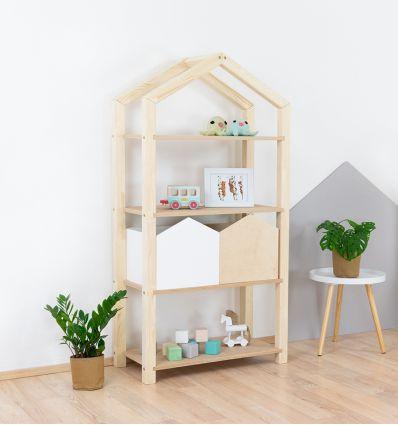 benlemi - montessori wooden house shelf tally (natural decor)