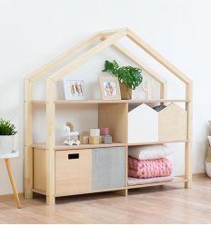 benlemi - libreria montessori a casetta shelly (naturale)