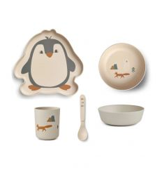 liewood - set pappa in bambù pinguino